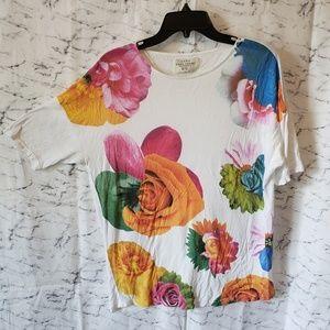 Zara Basic Flower Print T-Shirt